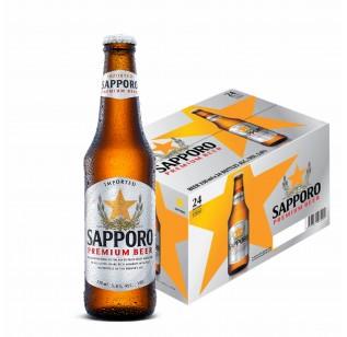 Sapporo Premium Beer  (24 x 330ml)